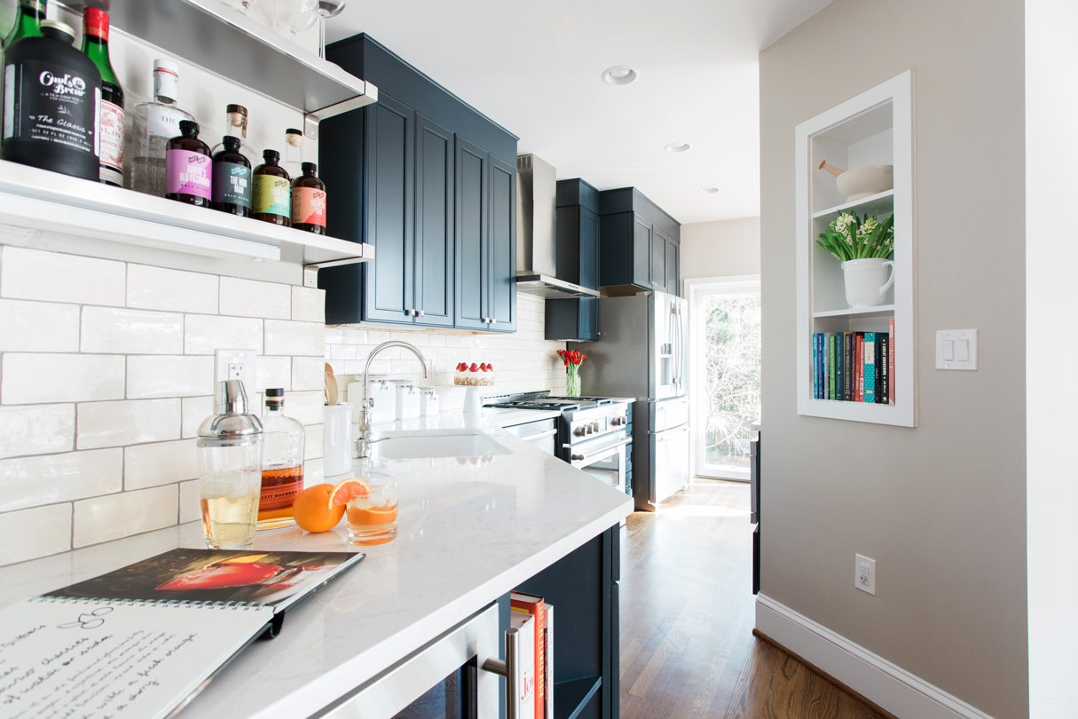 This Kitchen Renovation Updated a Plain, White Space Into a Classy Entertaining Area