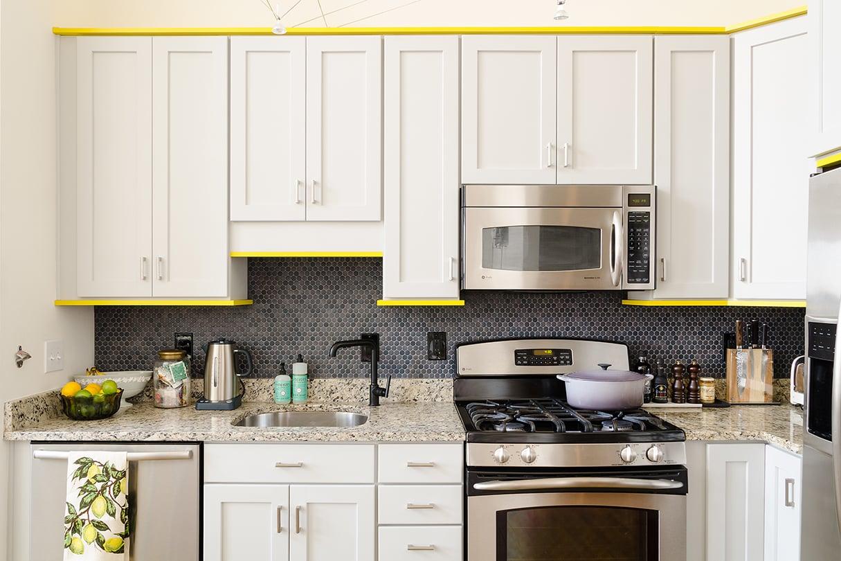 This Decorator's DIY Trick to Update Her Kitchen Is Genius