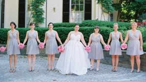 Guests Played Putt-Putt Golf at This Pink and Gray Dumbarton House Wedding
