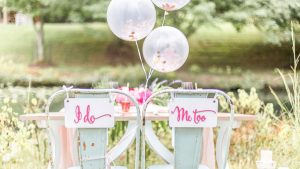 Hot Pink and Blue Garden Party Wedding Inspiration