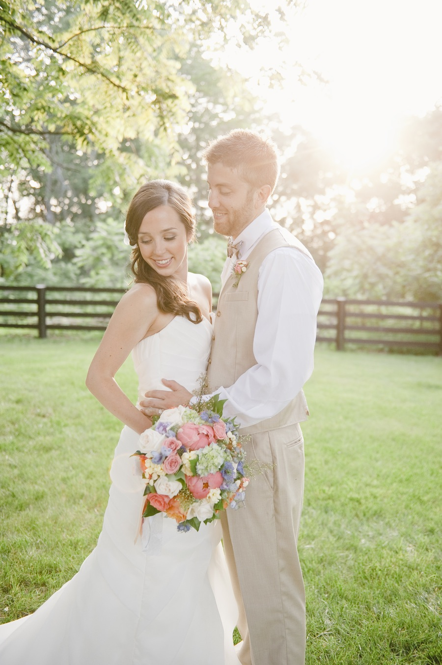 colorful rustic backyard wedding in virginia washingtonian