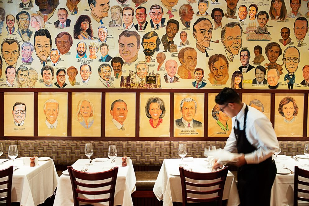 Who's on the Wall at the Palm Restaurant?