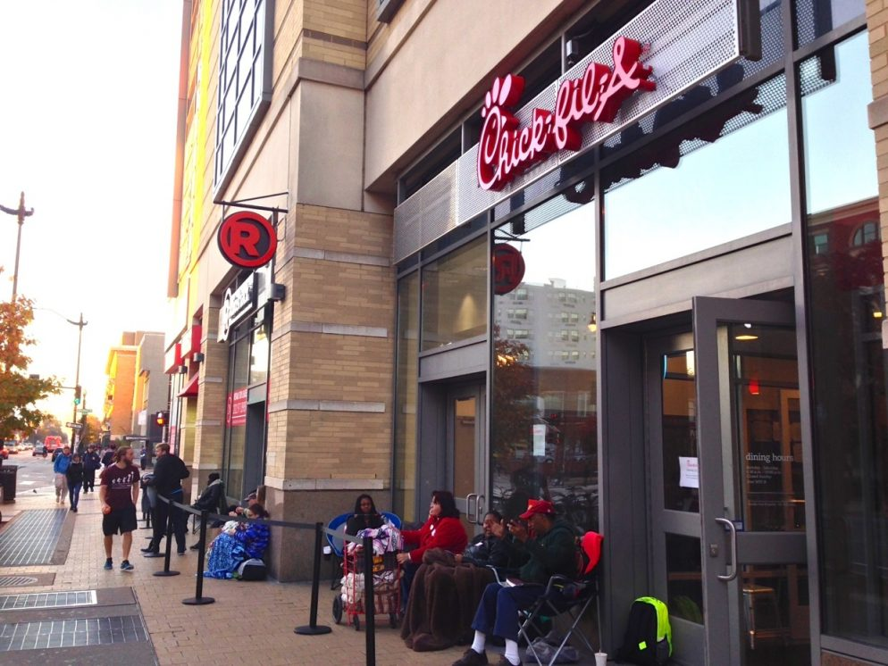 People are Camping Outside DC's First Chick-fil-A Before Opening Day