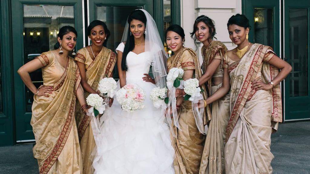bridesmaids saris