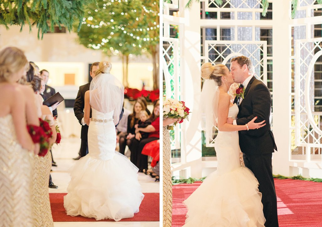 A Very Festive Red And Gold Christmas Wedding At Gaylord National
