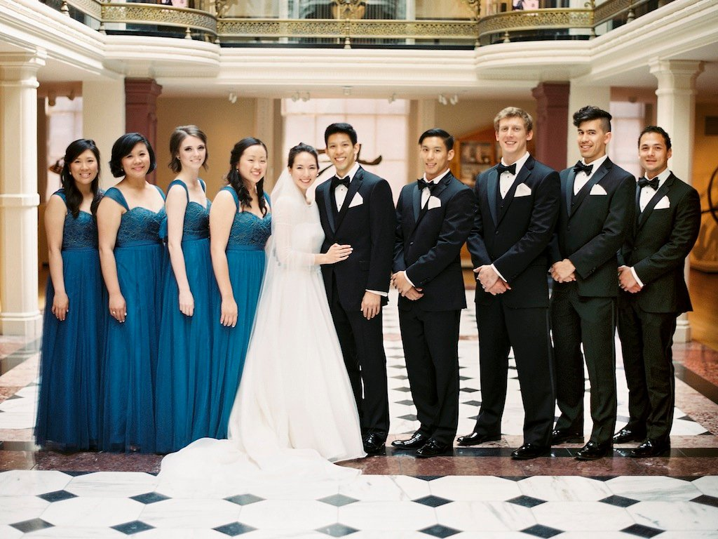 Elegant Navy Blue and Champagne Wedding at DC\'s L\'Aiglon Mansion ...