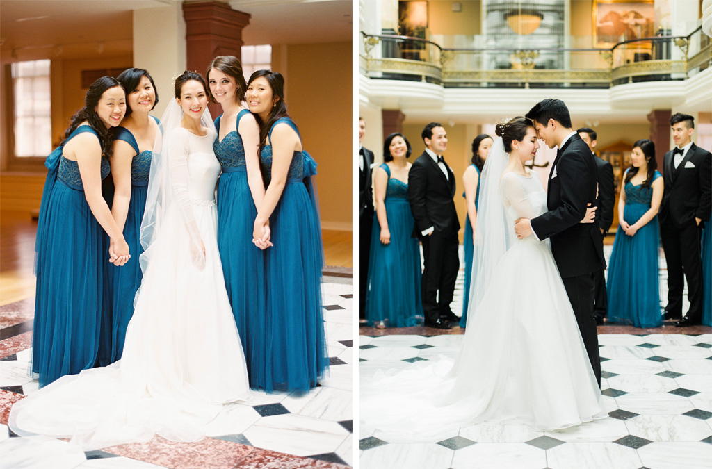 Elegant Navy Blue and Champagne Wedding at DC\'s L\'Aiglon Mansion ...
