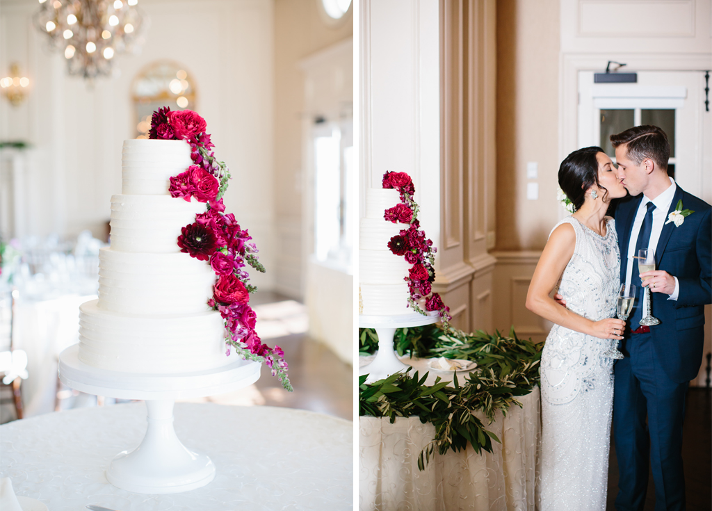 Raspberry Red and Navy Blue Wedding at Arlington\'s Army Navy Country ...