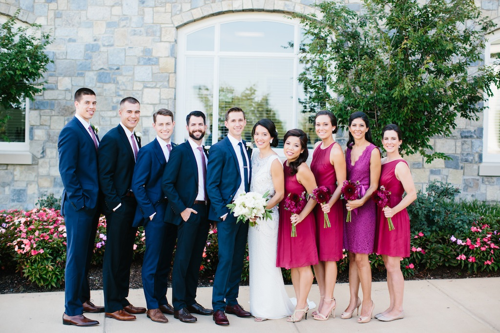 Raspberry Red And Navy Blue Wedding At Army Navy Country