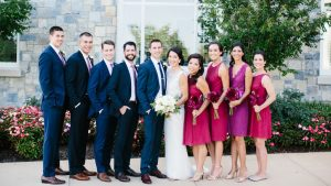 Raspberry Red and Navy Blue Wedding at Army Navy Country Club