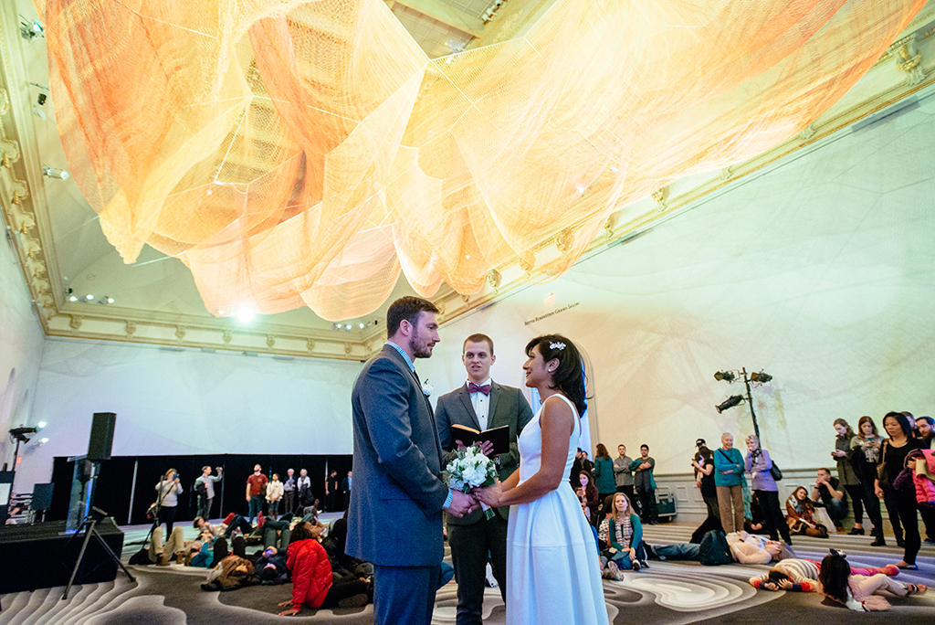 This Couple Got Married at the Most Instagrammable Spot in