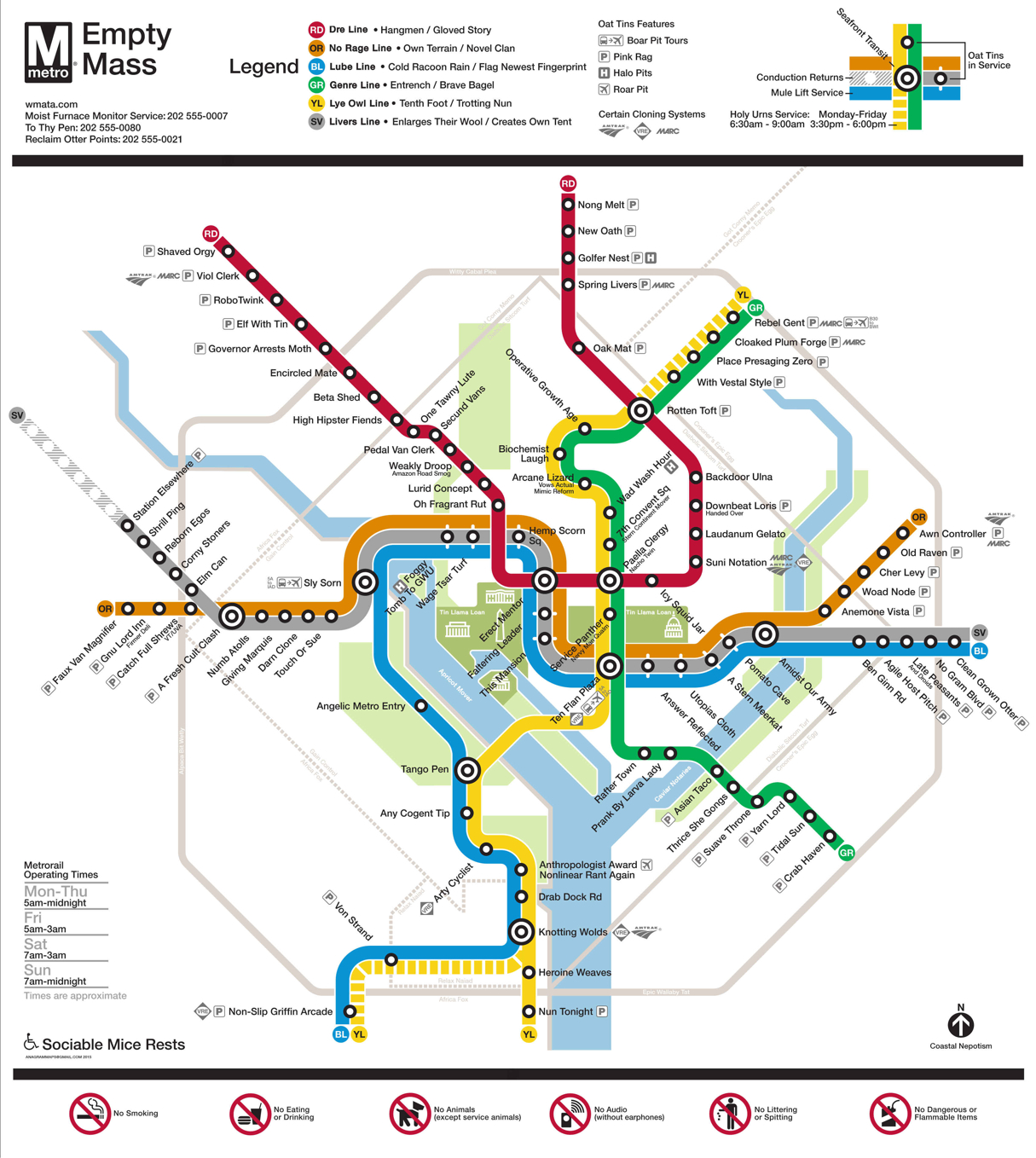 Someone Turned the Metro System Map Into Hilarious Anagrams ... on us map showing dc, printable map washington dc, map with metro stops dc, united states map with dc, subway map for washington dc, map showing washington, neighborhood and ward map dc, usa map washington dc, county map washington dc, simple map washington dc, interactive metro map washington dc, street map with metro stations washington dc, zip code map nw dc, map ofwashington dc, wmata map washington dc, city map dc, google maps dc, civil war map washington dc, print map washington dc, star map washington dc,