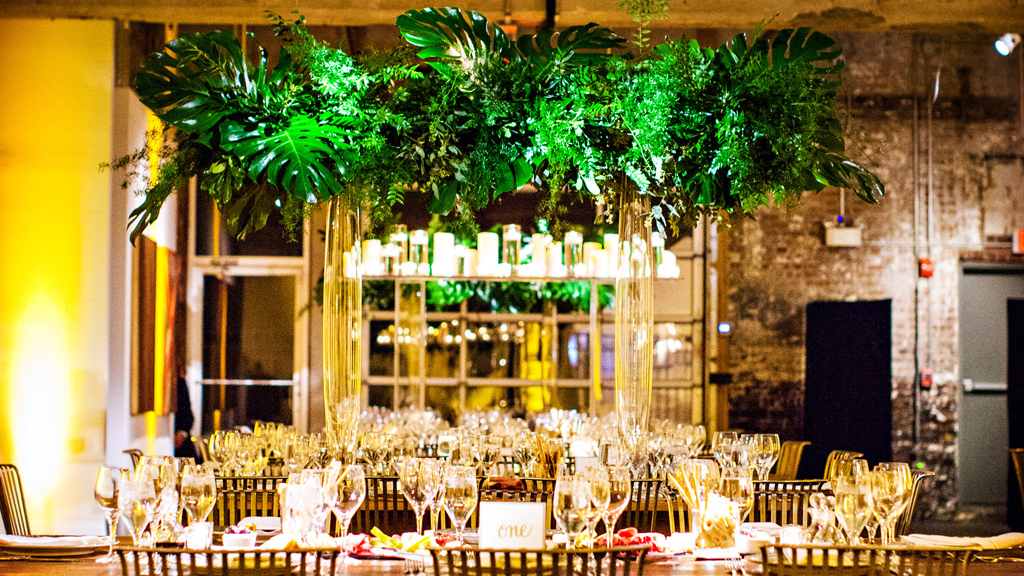 modern urban jungle wedding