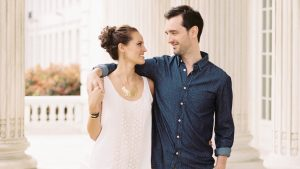 Spring Engagement Photos in DC's Constitution Gardens