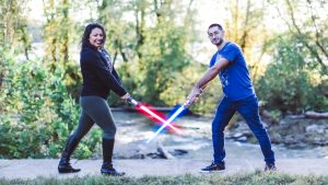 This Star Wars Engagement Shoot Totally Brightened Our Day