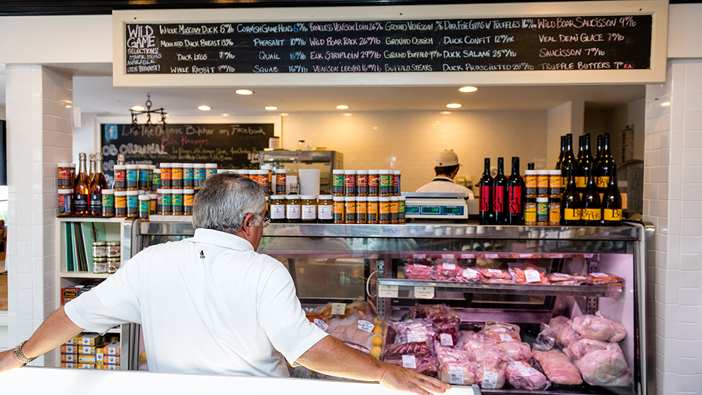 The Organic Butcher of McLean sells quail and wild boar, among more typical offerings. Photograph by Andrew Propp.