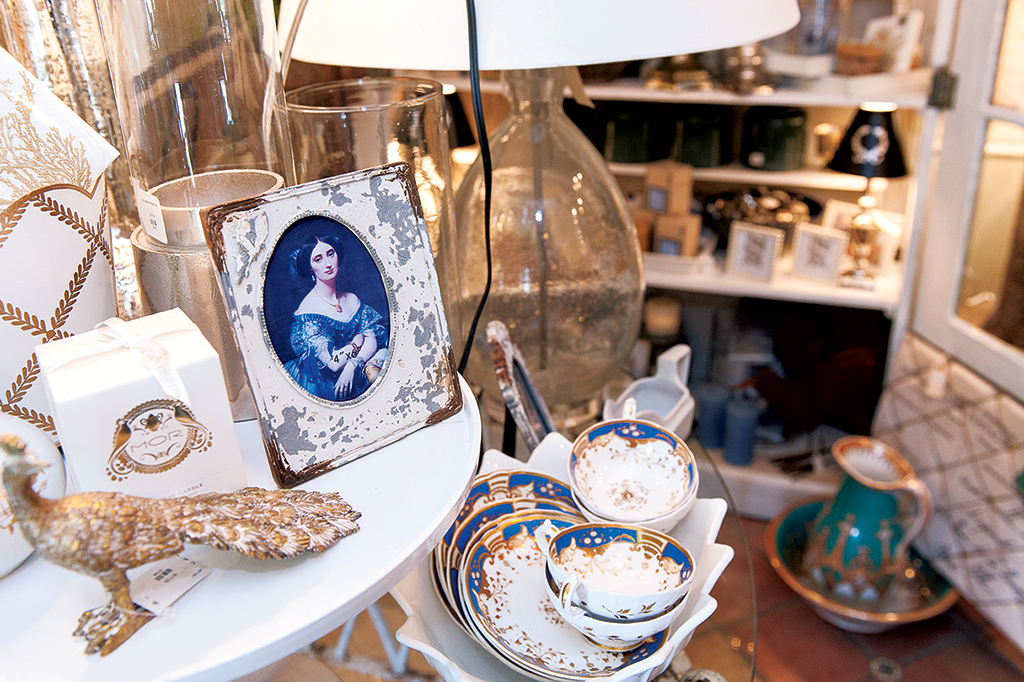 Pear Tree Cottage is filled with vintage-style home goods. Photograph by Andrew Propp.
