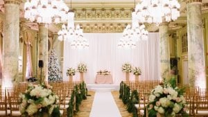 Sparkly Gold Winter Wedding at The Willard