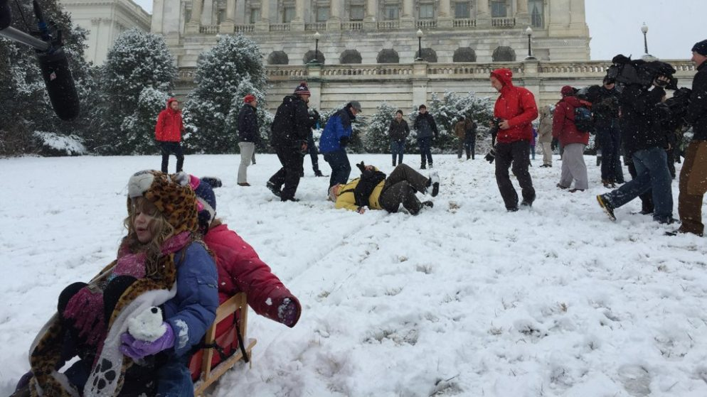 Sledding Down Capitol Hill Is Totally Legal This Winter