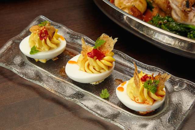 Don't miss the Riggsby's deviled eggs. Photograph by Jeff Elkins