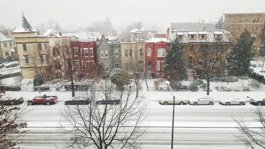 Capital Hill in the snow. Photograph courtesy of Ashley Sinha.