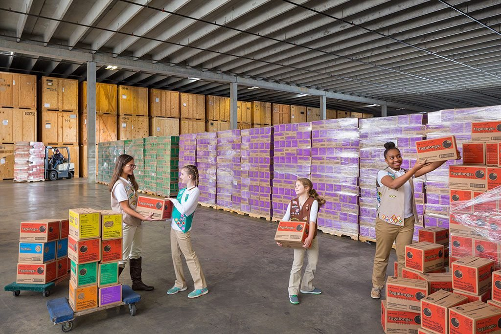 We got a peek inside the Sterling, Va., warehouse where some $1 million worth of Girl Scout cookies are stored.