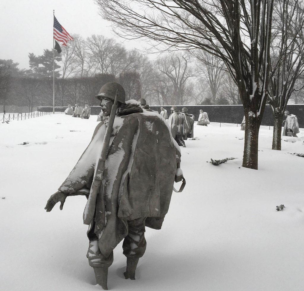 This morning at Korean War Veterans Memorial. Photo courtesy of Eric Phillips.
