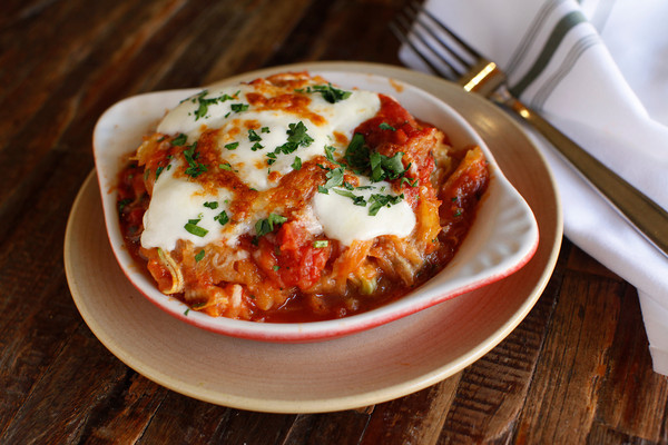 Try this spaghetti squash casserole for a warming riff on a classic parm. Photograph courtesy of Fox Restaurant Concepts