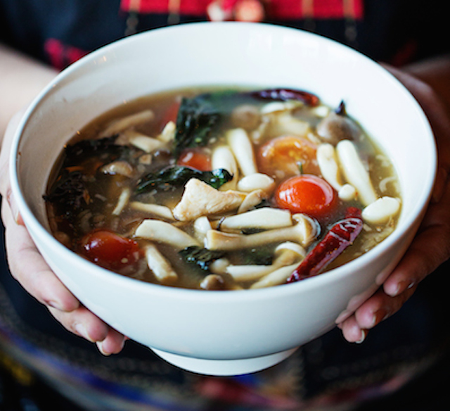 Sour soup from Thip Khao makes a warming, healthy meal. Photograph by Scott Suchman.