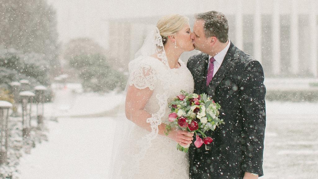 washington DC blizzard wedding
