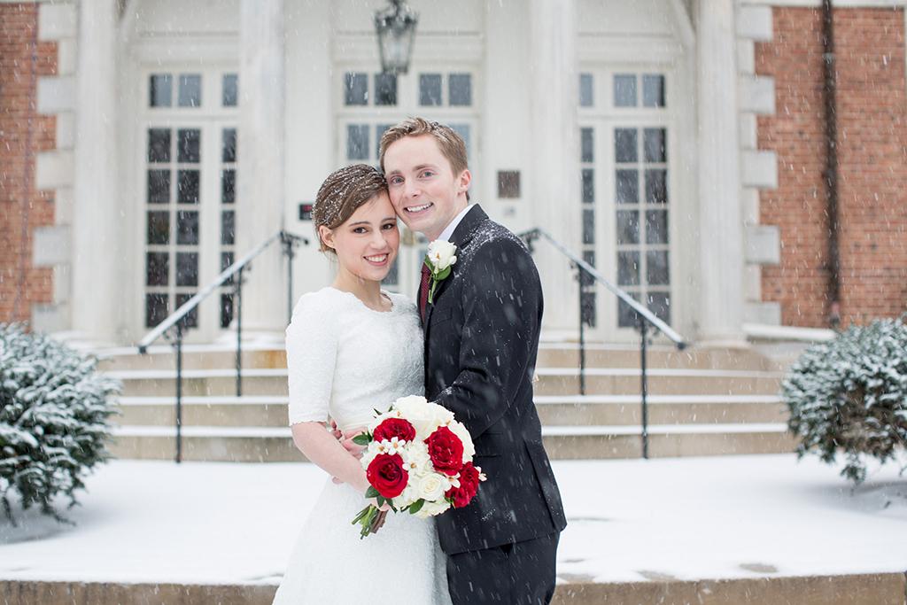 blizzard snow storm wedding