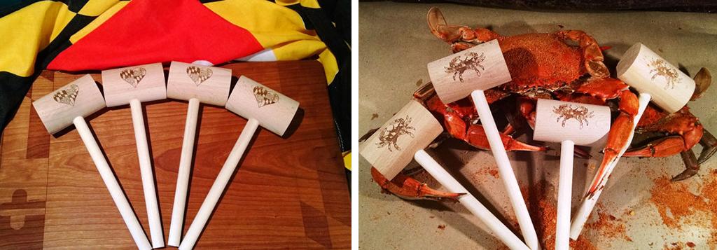 crab mallet etsy wedding shops