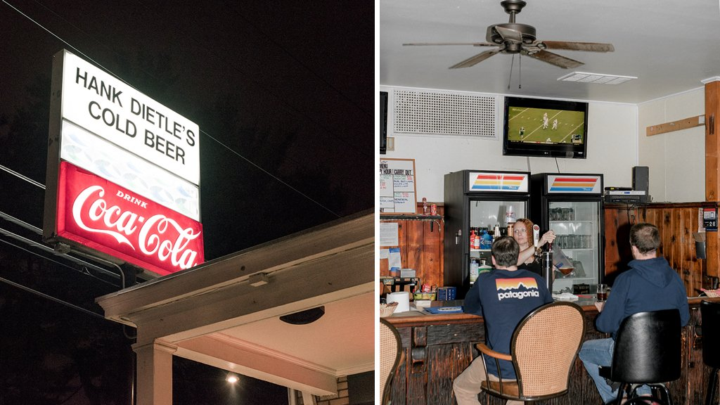 Fans of Hank Dietle's love the old bar because of it's hometown atmosphere. Photograph by Christopher Leaman.