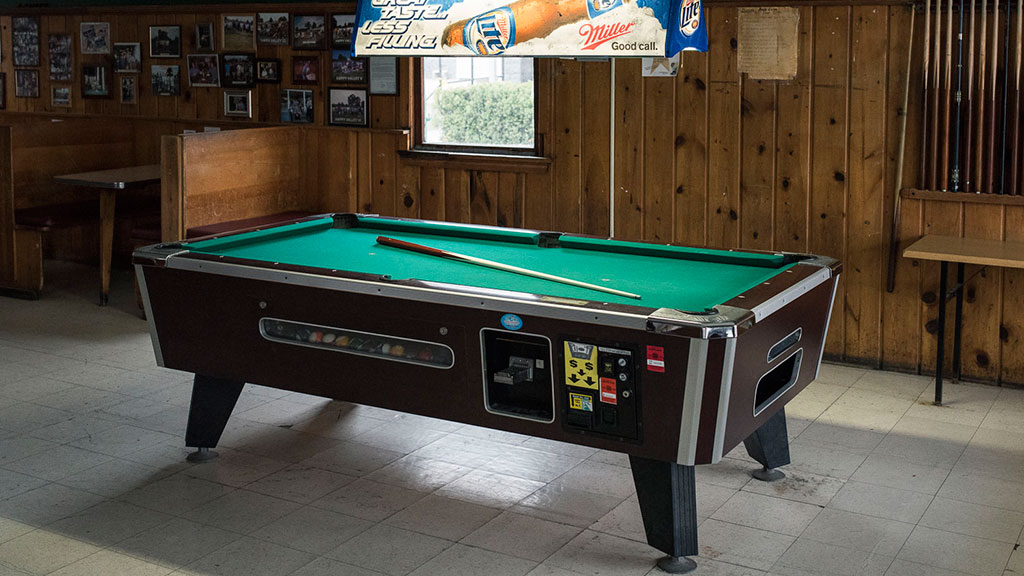 The pool table at Hank Dietle's.