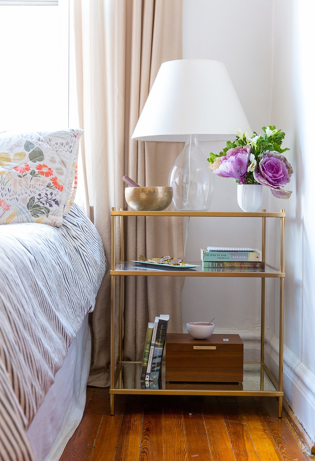Fancy Dysfunctional furniture A nightstand with drawers would be a better choice for stashing personal items near the bedside But says Doland at least having