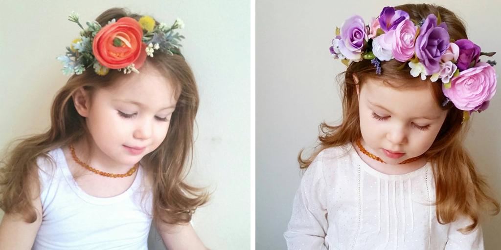 faux floral flower crowns etsy wedding shop