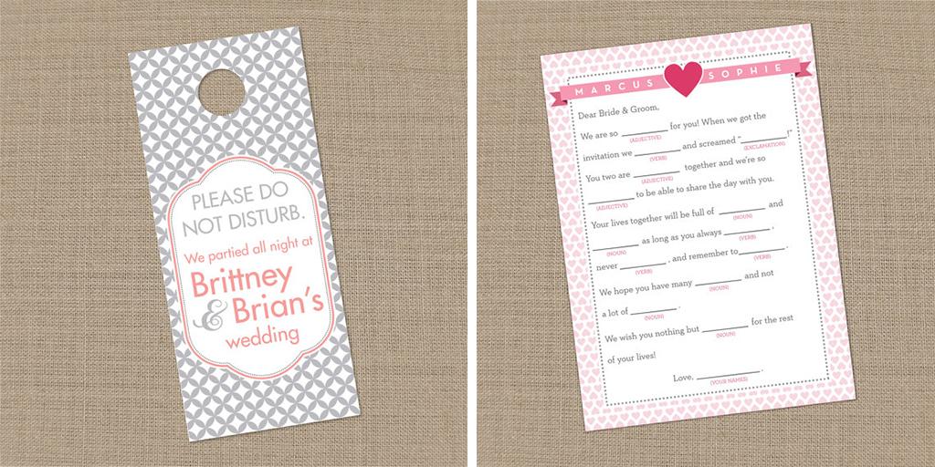 lucky girl paper etsy wedding shop