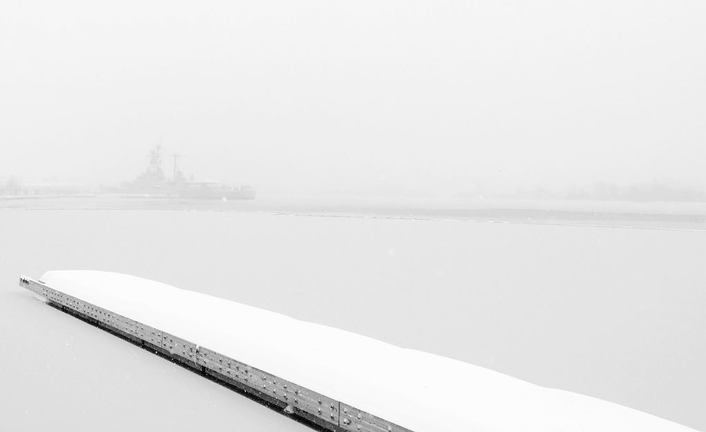 The USS Barry shot this morning from the Washington Navy Yard. Photo courtesy of Adam Wells.