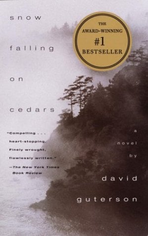The cover for Snow Falling on Cedars.