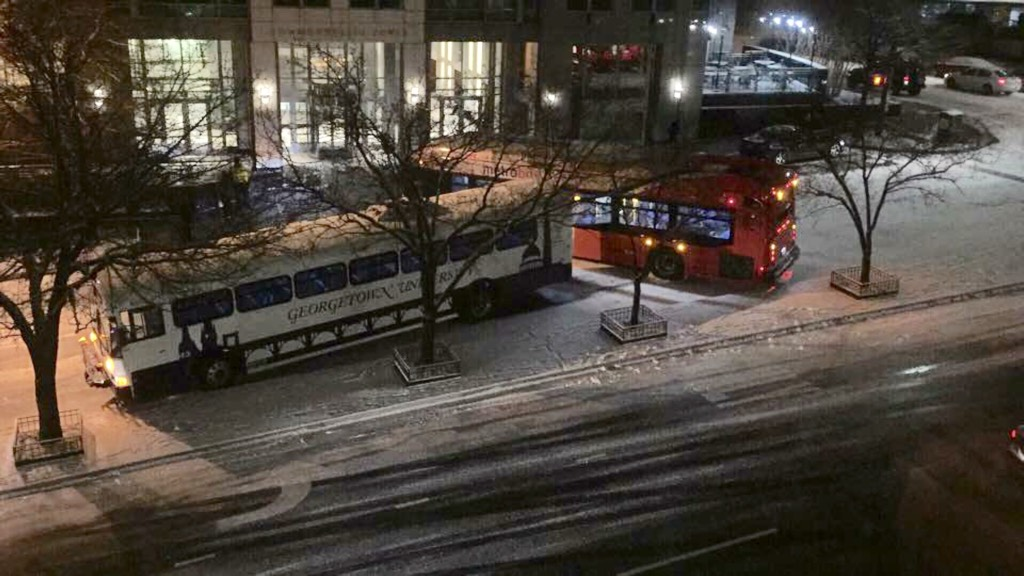 And the real snowstorm hasn't even begun yet. Photograph by Kristie Okely.