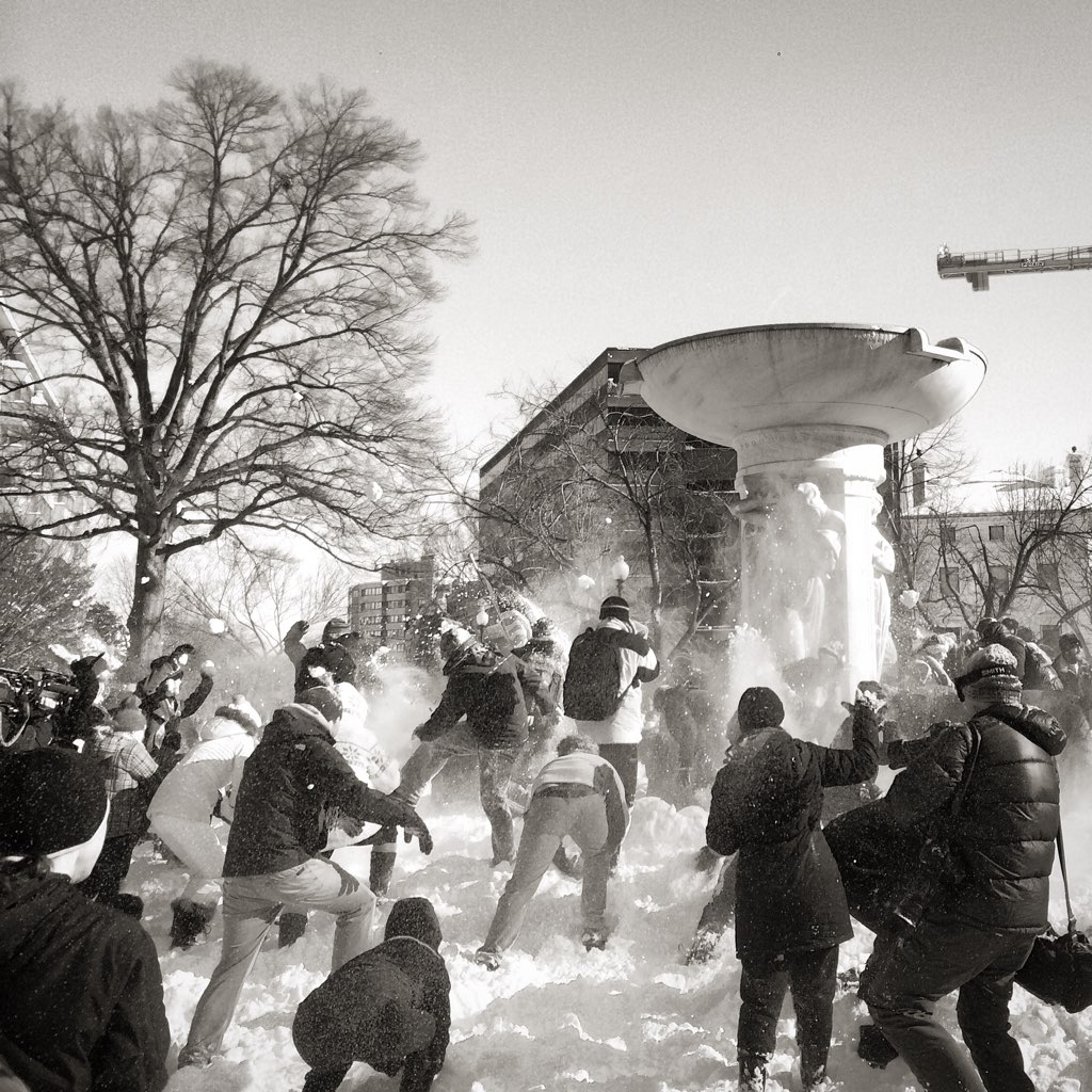 Epic DC Snowball Fight Was Epic