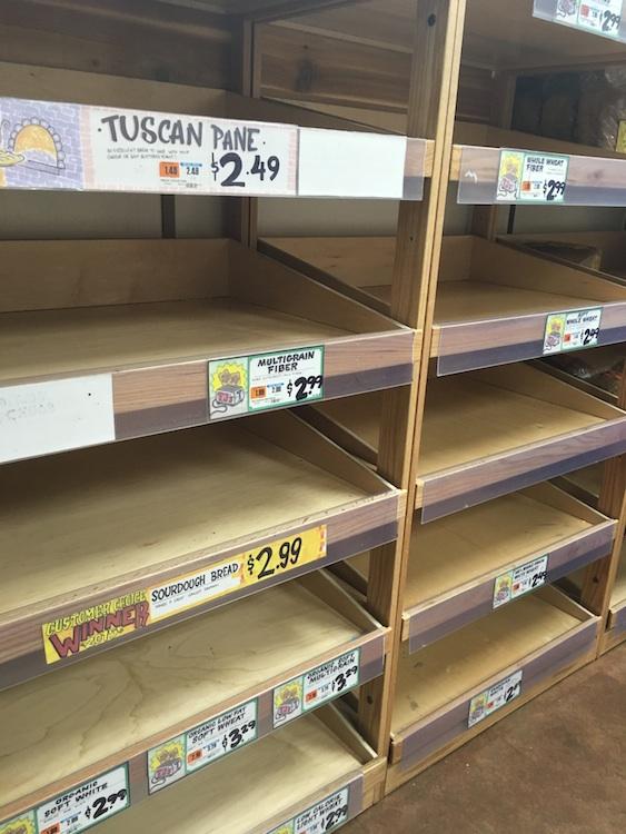 The bread aisle at Foggy Bottom's Trader Joe's. Photo courtesy of Kelly Hires.