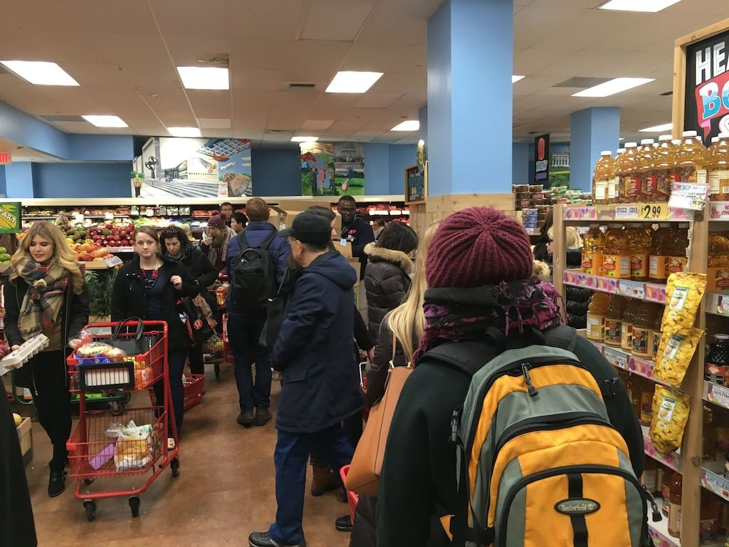 Trader Joe's before winter storm Jonas hit Washington, DC in 2016.