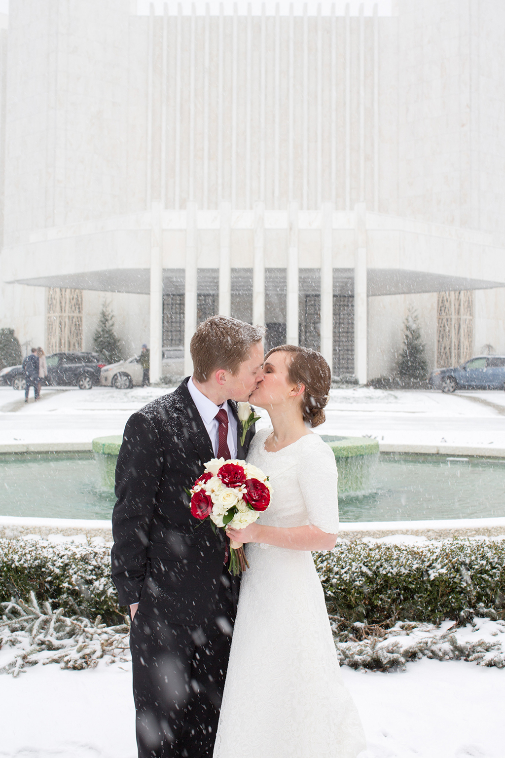 Washington DC snowstorm wedding jonas