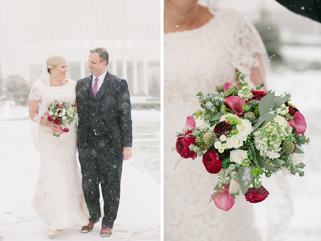 washington DC blizzard wedding