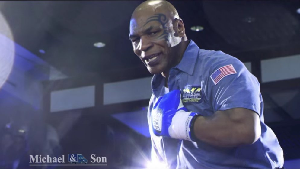 Watch Behind-the-Scenes Footage of Mike Tyson's Super Bowl Ad
