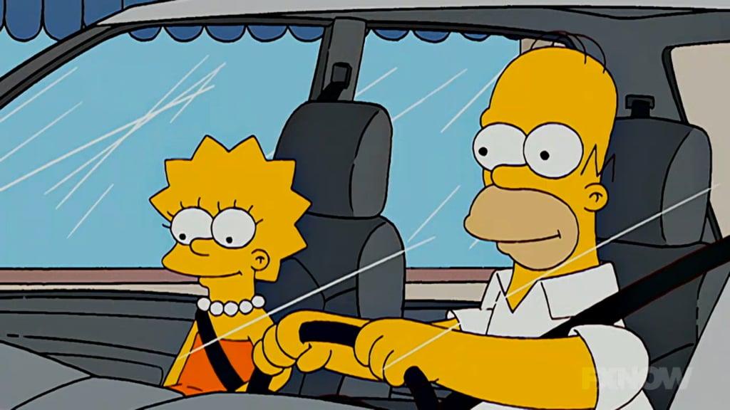 Lisa and Homer, enjoying Terry Gross. Screenshot via FXNOW.