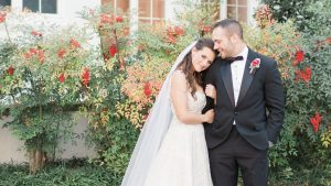 You Won't Believe How the Couple Behind this Romantic Red Rose Wedding Met