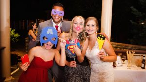 An Epic Red, Yellow, and Blue Superhero Wedding in the Mountains