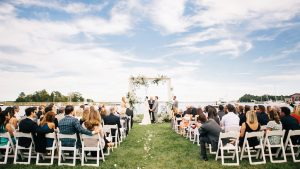 You've Got to See the Gorgeous Wedding Arbor at This Waterfront Ceremony